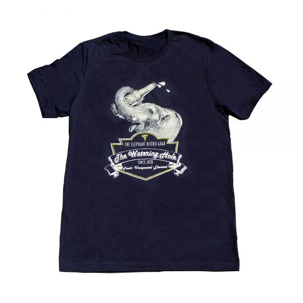 The Elephant Bistro and Bar Watering Hole t-shirt - blue