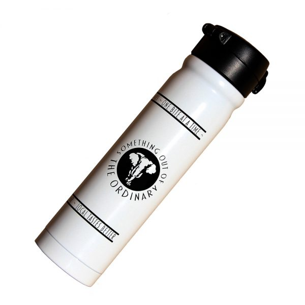 The Elephant Bistro and Bar coffee thermos - white