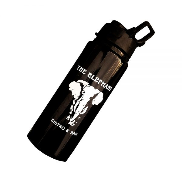 The Elephant Bistro and Bar 25oz Water Bottle - front
